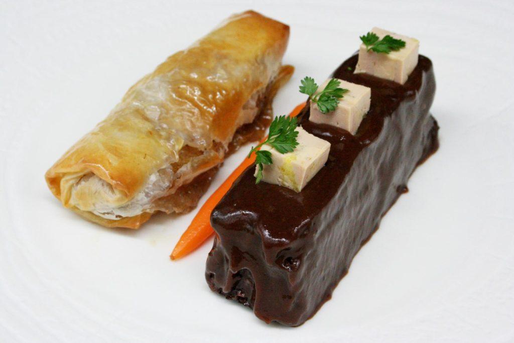 Le boudin noir de Mortagne, fait maison, en royale au foie gras